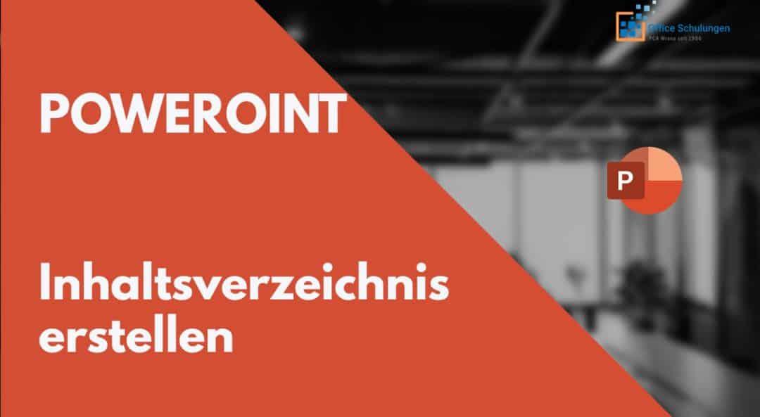 PowerPoint Inhaltsverzeichnis aus Folienüberschriften Seitenzahlen