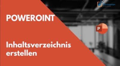 PowerPoint Inhaltsverzeichnis aus Folienüberschriften mit Seitenzahlen
