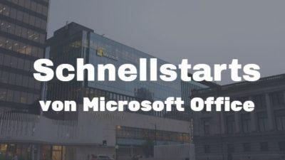 Schnellstartanleitungen von Microsoft Office