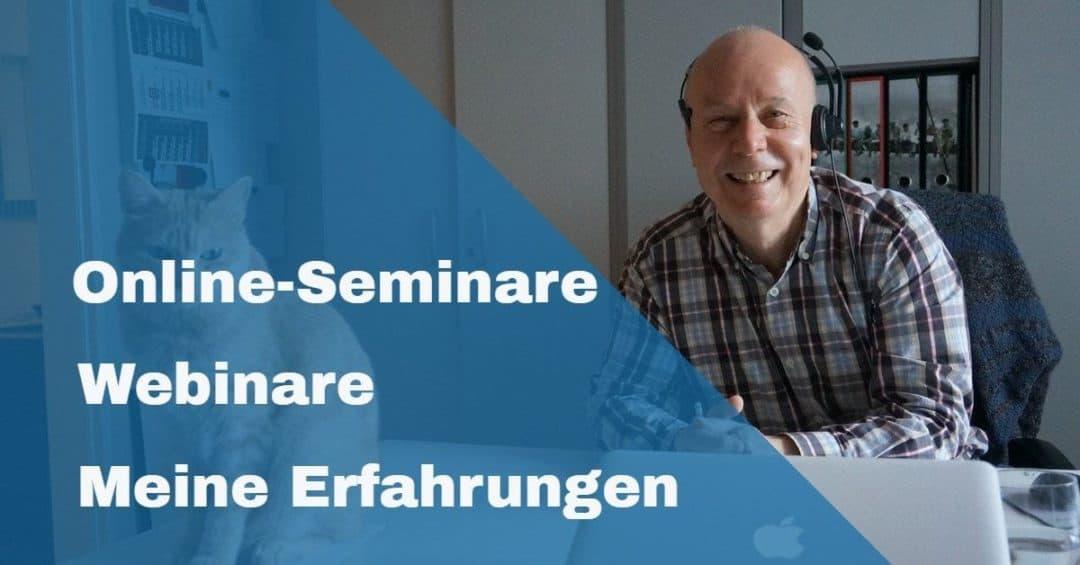 Online-Seminare und Webinare – meine Erfahrungen