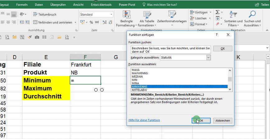 Wenn Funktionen in Excel