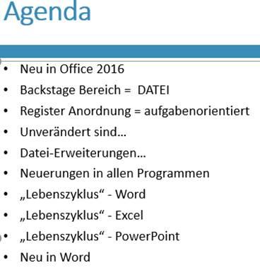 Wechsel Gliederungsansicht PowerPoint 2013