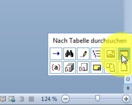 Word Dokument durchsuchen-Fenster browseobjekt