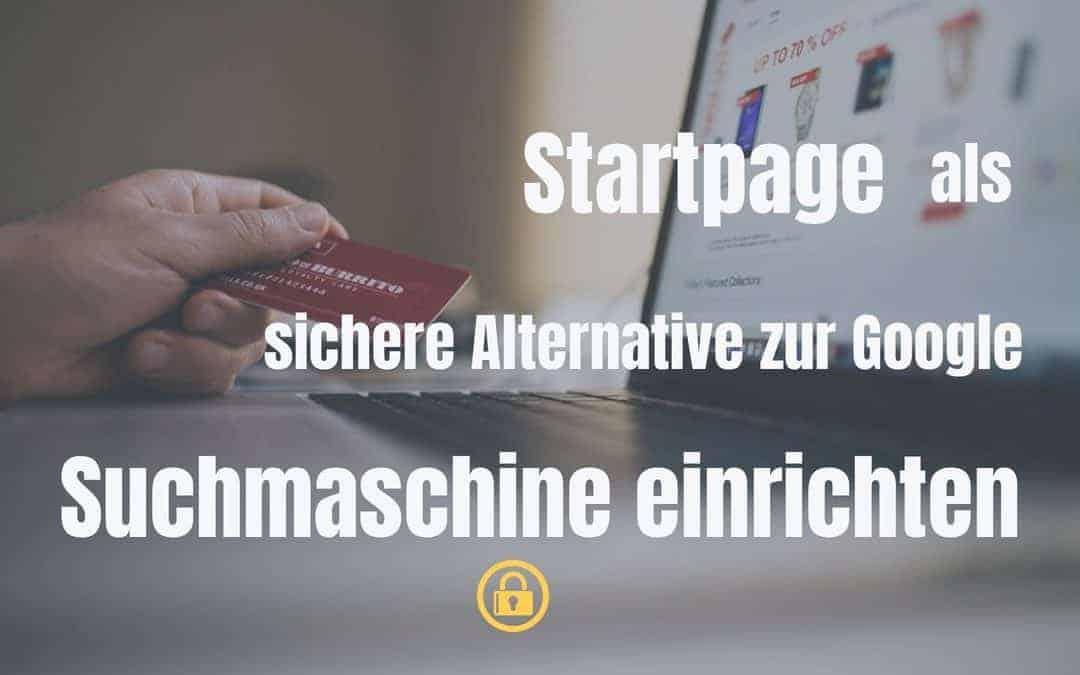 startpage suchmaschine einrichten